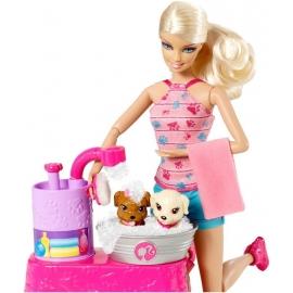 Barbie suds & hugs pups set